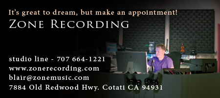 Zone Recording music recording studio in Sonoma County