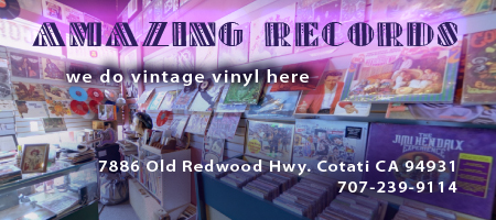 Amazing Records vinyl record store in Sonoma County