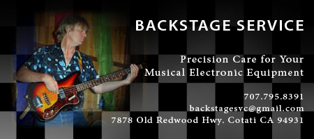 Backstage Musical Instrument and Equipment Service in Sonoma County